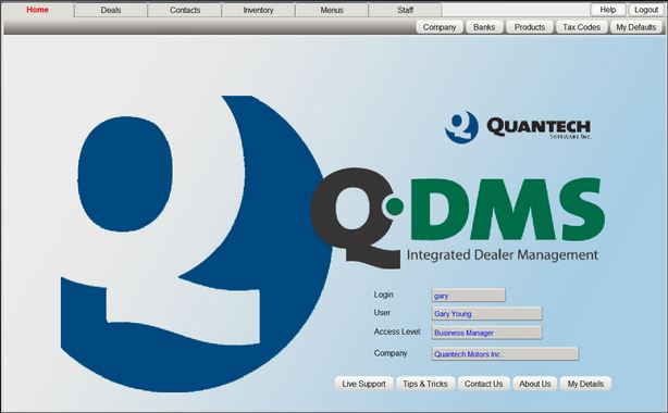 Q-DMS is well laid out and perfect for auto, RV, powersports, or marine dealerships; key areas are all within a mouse click. <br>